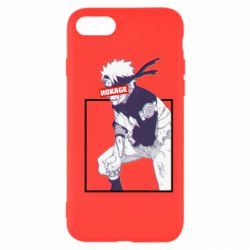 Чехол для iPhone 8 Naruto Hokage glitch