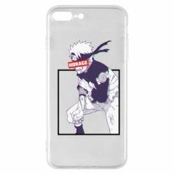 Чехол для iPhone 8 Plus Naruto Hokage glitch