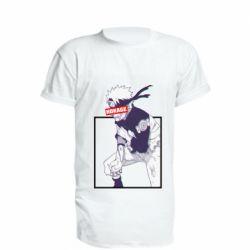Удлиненная футболка Naruto Hokage glitch