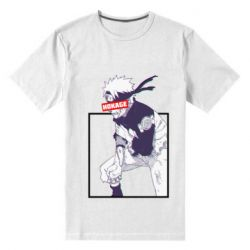 Мужская стрейчевая футболка Naruto Hokage glitch