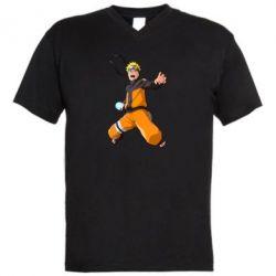 Чоловіча футболка з V-подібним вирізом Naruto rasengan
