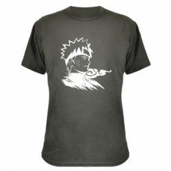 Камуфляжна футболка Naruto Uzumaki head