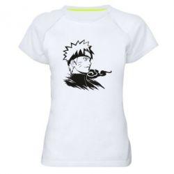 Жіноча спортивна футболка Naruto Uzumaki head
