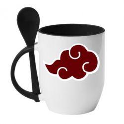 Кружка з керамічною ложкою Naruto