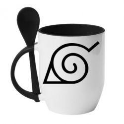 Кружка з керамічною ложкою Натуро