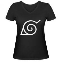 Жіноча футболка з V-подібним вирізом Натуро