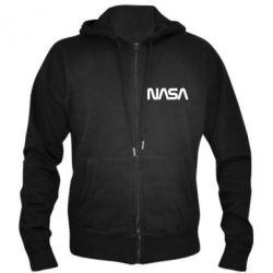 Чоловіча толстовка на блискавці NASA logo