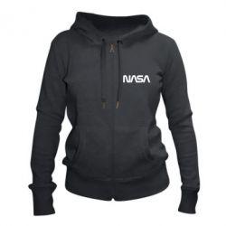 Жіноча толстовка на блискавці NASA logo