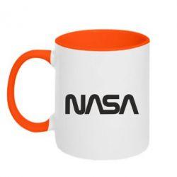 Кружка двоколірна 320ml NASA logo