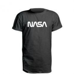 Подовжена футболка NASA logo