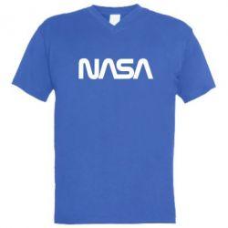 Чоловіча футболка з V-подібним вирізом NASA logo
