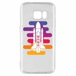 Чохол для Samsung S7 NASA rocket in space