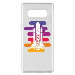 Чохол для Samsung Note 8 NASA rocket in space