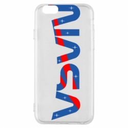 Чехол для iPhone 6/6S Nasa semicircle