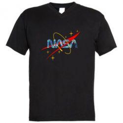 Чоловіча футболка з V-подібним вирізом Nasa Wan Gogh