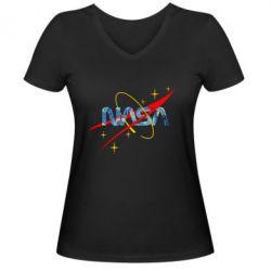 Жіноча футболка з V-подібним вирізом Nasa Wan Gogh