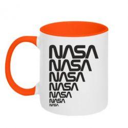 Кружка двухцветная 320ml NASA