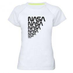 Женская спортивная футболка NASA
