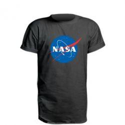 Мужская футболка  с V-образным вырезом NASA