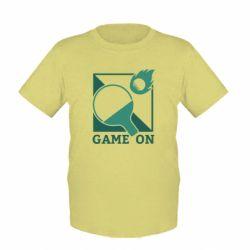 Детская футболка Настольный Теннис игра