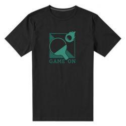 Мужская стрейчевая футболка Настольный Теннис игра