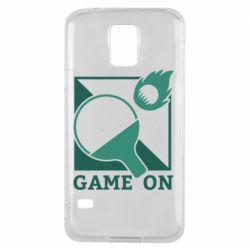 Чехол для Samsung S5 Настольный Теннис игра