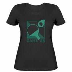 Женская футболка Настольный Теннис игра
