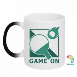 Кружка-хамелеон Настольный Теннис игра