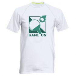 Мужская спортивная футболка Настольный Теннис игра