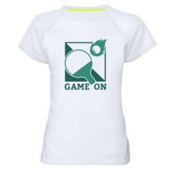Женская спортивная футболка Настольный Теннис игра