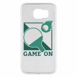 Чехол для Samsung S6 Настольный Теннис игра