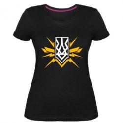 Жіноча стрейчева футболка National building