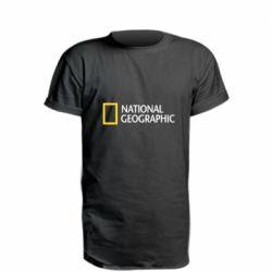 Удлиненная футболка National Geographic logo
