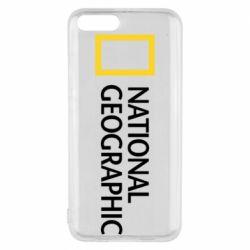 Чехол для Xiaomi Mi6 National Geographic logo