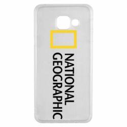 Чехол для Samsung A3 2016 National Geographic logo