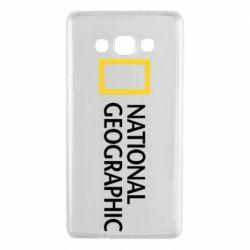 Чехол для Samsung A7 2015 National Geographic logo
