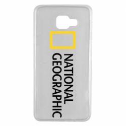Чехол для Samsung A7 2016 National Geographic logo