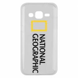 Чехол для Samsung J2 2015 National Geographic logo