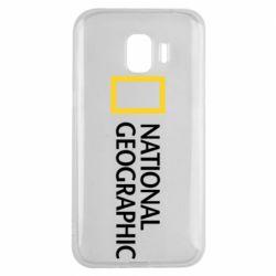 Чехол для Samsung J2 2018 National Geographic logo