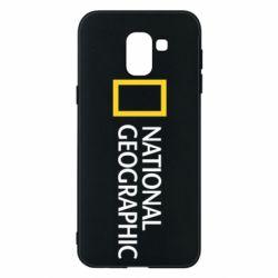 Чехол для Samsung J6 National Geographic logo