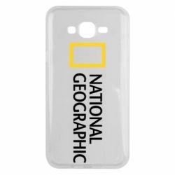 Чехол для Samsung J7 2015 National Geographic logo