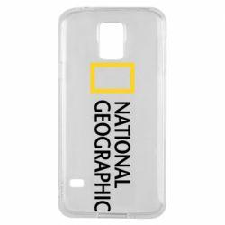 Чехол для Samsung S5 National Geographic logo