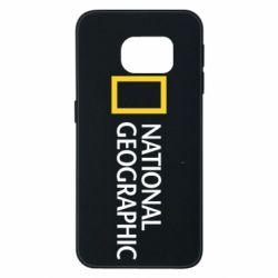 Чехол для Samsung S6 EDGE National Geographic logo