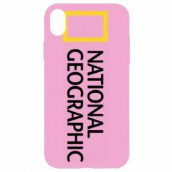 Чехол для iPhone XR National Geographic logo