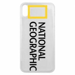 Чехол для iPhone Xs Max National Geographic logo