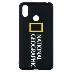 Чехол для Xiaomi Mi Max 3 National Geographic logo