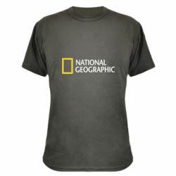 Камуфляжная футболка National Geographic logo