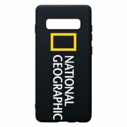 Чехол для Samsung S10+ National Geographic logo