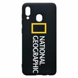 Чехол для Samsung A20 National Geographic logo