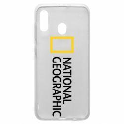 Чехол для Samsung A30 National Geographic logo